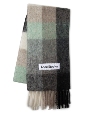 Vally Scarf GREEN GREY AND BLACK