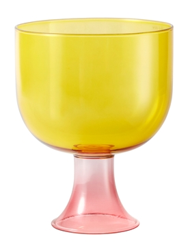 CUPPINO YELLOW PINK BROWN GLASS