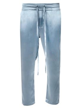Silk Drawstring Pants Cloudy Blue