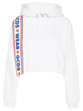 Crop Lovely Hoodie WHITE