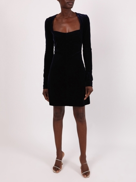 Navy velvet Nightfall dress
