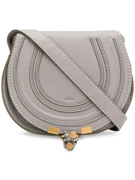 Grey Marcie round saddle mini bag