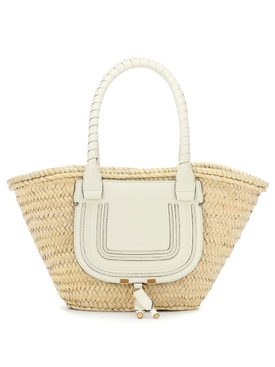 Marcie medium raffia basket bag NATURAL