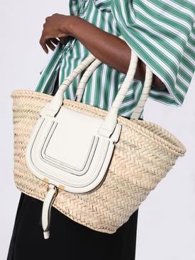 Marcie medium raffia basket bag NATURAL