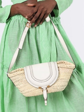 Small Marcie basket bag NATURAL WHITE
