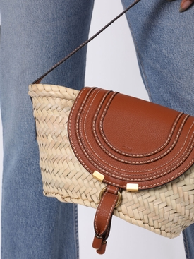 Small Marcie basket bag TAN