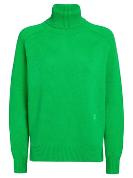 CASHMERE TURTLENECK PULLOVER SIMPLE GREEN