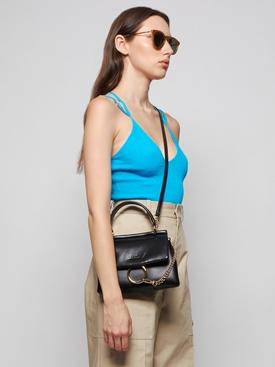 Faye Small Top Handle Bag Black