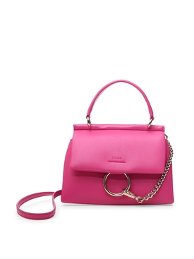 SMALL FAYE TOP HANDLE BAG Hot Pink