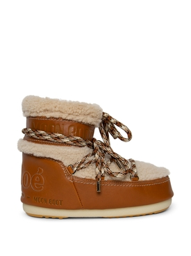 X MOON BOOT LEATHER AND SHEARLING BOOT LUMINOUS OCHRE