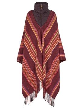 Multi-Stripe Colored Poncho Dark Ebony