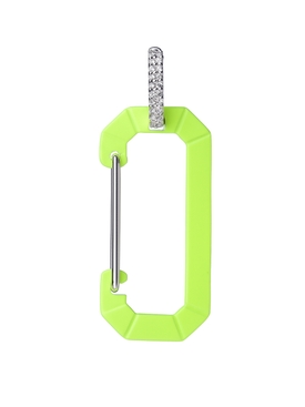 Fluorescent Yellow Chiara Big Earring