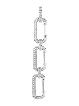 Chiara Triple Earring, white gold and diamonds