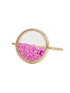 CHIVOR RING Pink sapphire/Topaz