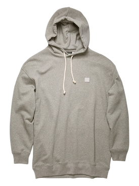 Face Oversized Hoodie Light Grey Melange