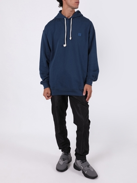 Face Oversized Hoodie Midnight blue