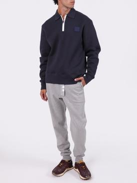 Classic Face Sweatshirt, Navy blue