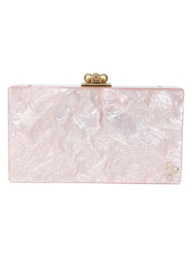 Slim Jean Box Clutch ROSE QUARTZ