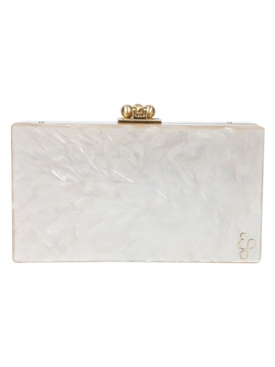 Edie Parker - Slim Jean Box Clutch Nude Pearlescent - Women