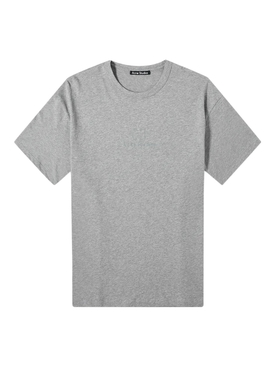 reflective logo face t-shirt LIGHT GREY MELANGE