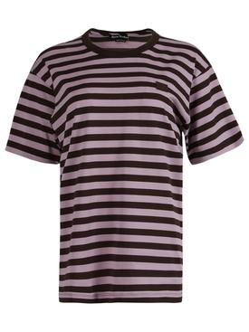 Striped Face Logo T-shirt Lilac purple