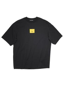 Classic Screen Print Face logo T-shirt Black