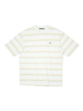Exford Stripe Face T-shirt Pale Green