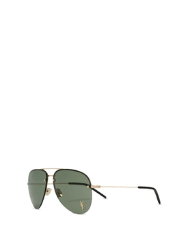 classic 11 aviator sunglasses green