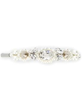 Pearl and White Crystal Hair Clip