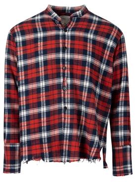 Plaid Classic Studio Shirt Red and Navy