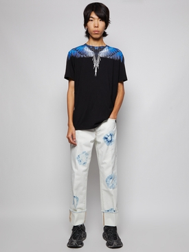REGULAR FIT WINGS T-SHIRT BLACK AND BLUE