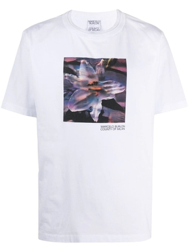 White and purple Graphic print t-shirt