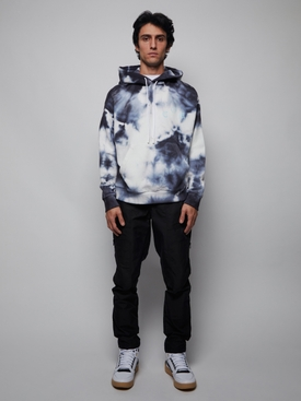 Blue and White Tie-Dye Hoodie