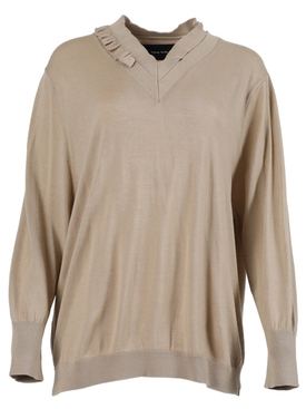 Khaki ruffle jumper