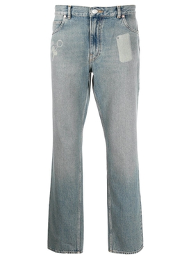 Straight Leg Pocket Shadow Jeans DIRTY BLUE