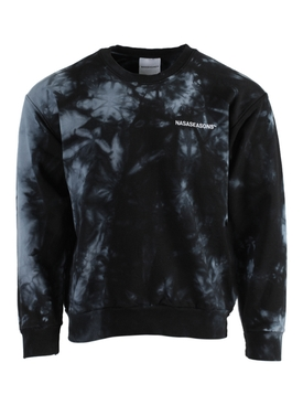 Black Tie-Dye Crewneck Sweatshirt