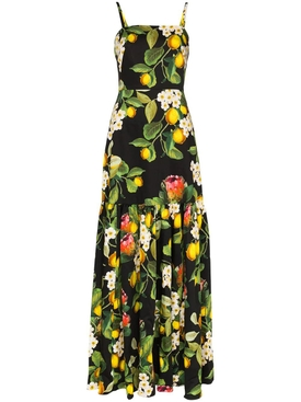 Lemon blossom print summer dress