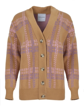 Camel brown Calligraphist cardigan