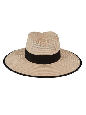 Cindy straw hat neutral and black