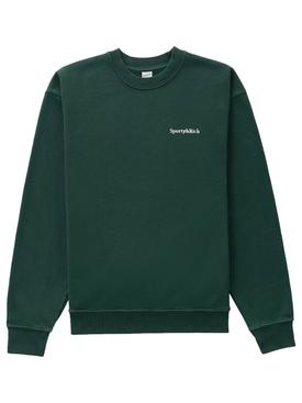 Serif Logo Classic Sweatshirt Forest