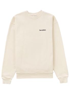 Serif Logo Classic Sweatshirt Cream