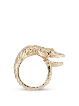 18K Yellow Gold Crocodile Ring
