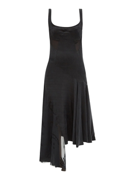 ASYMMETRIC EVENING DEVORE DRESS