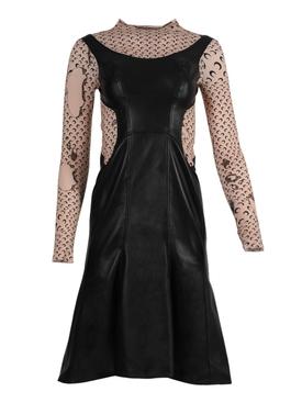 Regenerated hybrid logo print dress