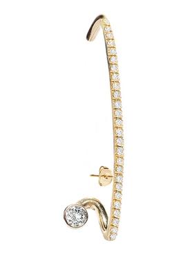 Crescendo Flare Pavé Diamond Earring Right