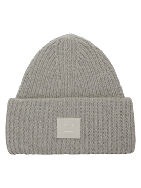 Ribbed Face Beanie GREY