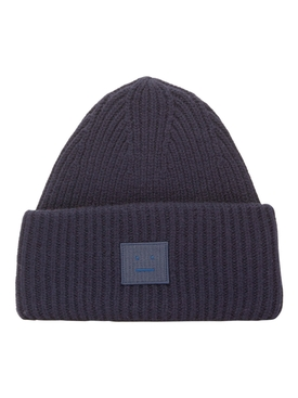 Ribbed Face Beanie NAVY