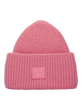 Ribbed Logo Beanie Hat BUBBLEGUM PINK