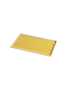 Singular Rectangular tray, yellow