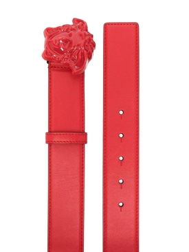 MEDUSA BUCKLE PALAZZO BELT, RED